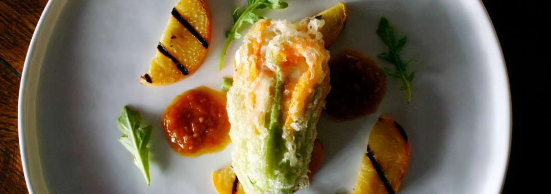 Chèvre Stuffed Zucchini Blossom – Gourmet and Company ...